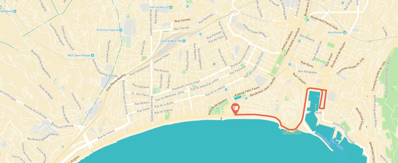 Parcours Prom du Coeur Port de Nice