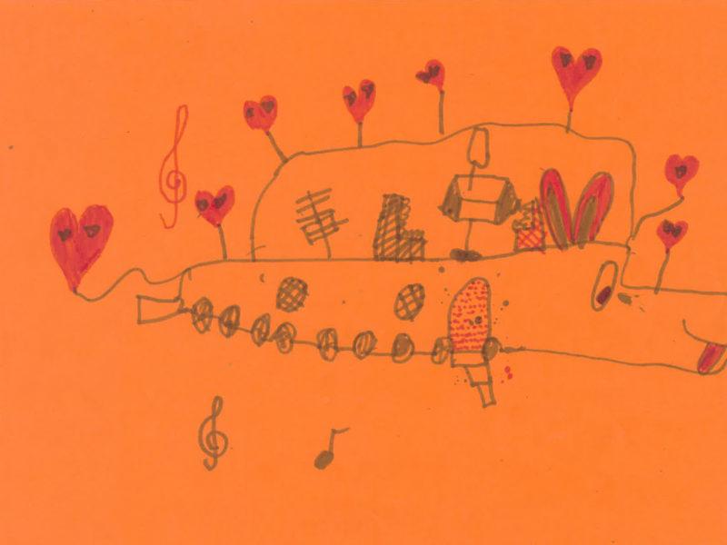 dessin prom du coeur
